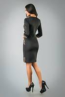 Стильное платье с оригинальными вставками, фото 1
