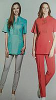 Медицинский женский костюм с драпировкой  много цветов 42р-56р х/б  Милана, фото 1