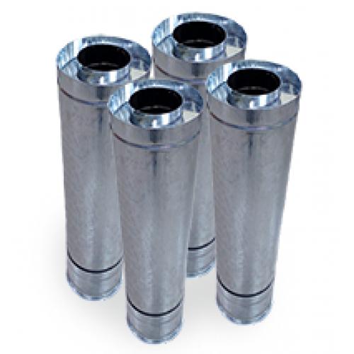 Двухстенные дымоходные трубы (сэндвич-трубы) AISI 321 (жарокислотостойкая сталь) диам.от 100 до 600 мм+ кожух