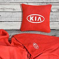 Автомобильный плед Kia в чехле с вышивкой логотипа, фото 1