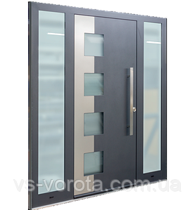 Входные уличные двери для дома Ryterna RD80 (Литва) - Дизайн 302