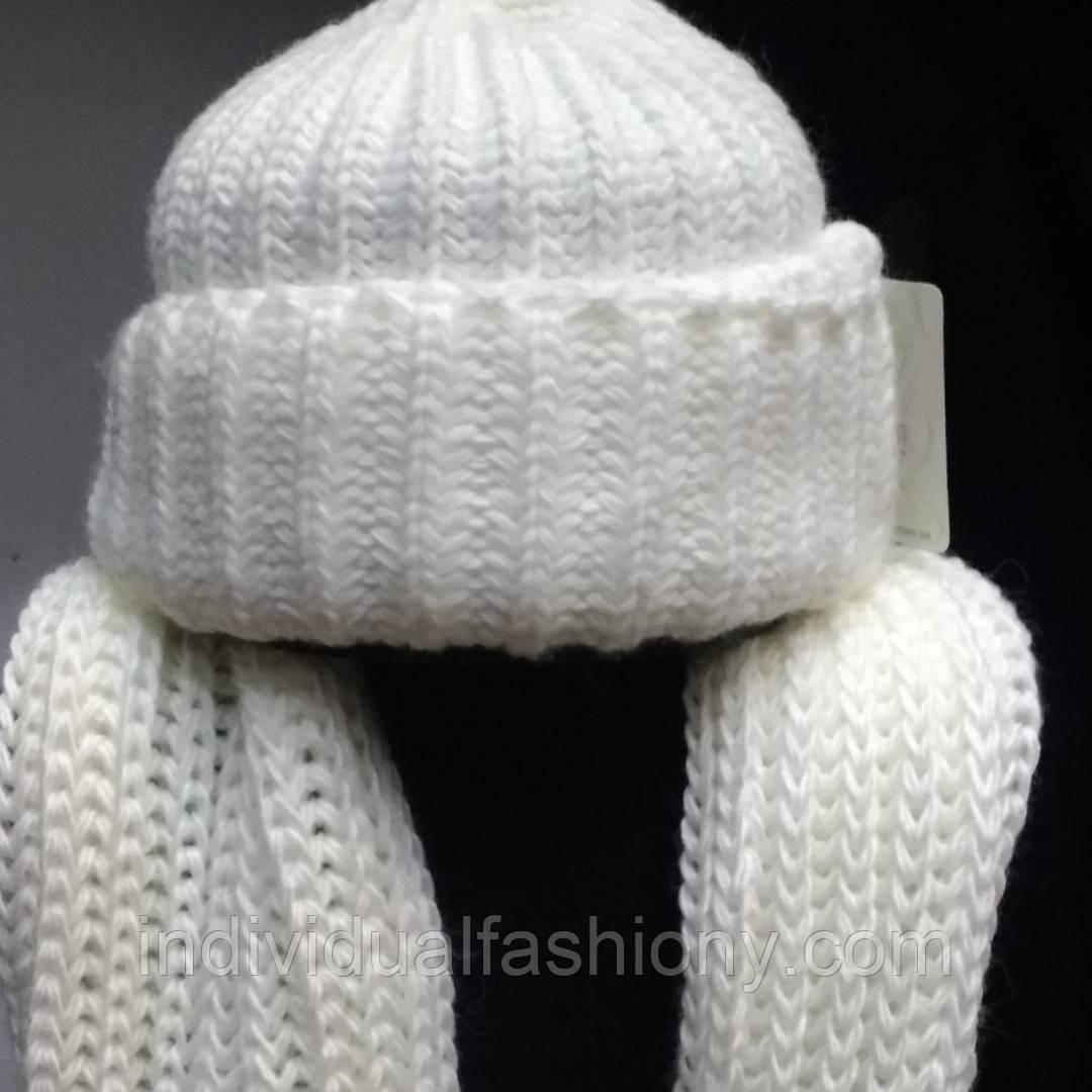 Комплект вязаные шапка и хомут