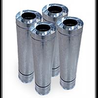 Дымоходная труба из нержавеющей стали 0,8 мм с оцинковкой