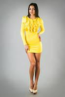 Яркое короткое платье с длинными рукавами, фото 1