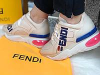 Модные женские кроссовки FENDI  'FendiMania'  (реплика), фото 1