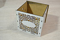 Цветочная коробка кубик Ажур.