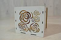 Цветочная коробка кубик 13х13
