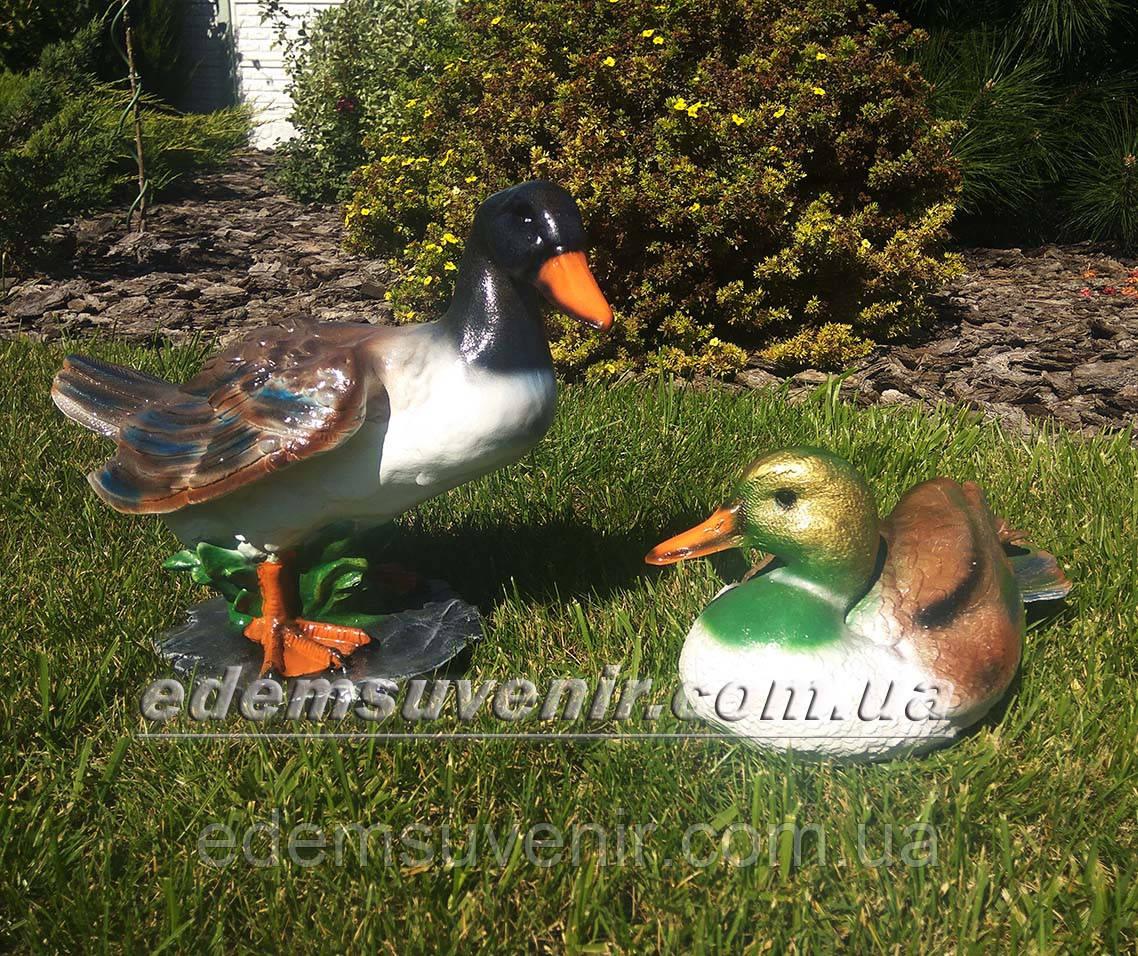 Садовая фигура Селезень кряквы и Утка декоративная