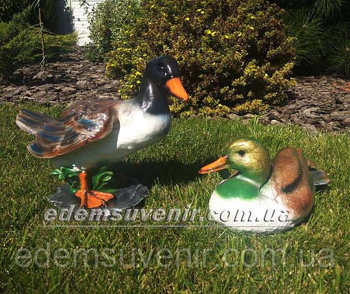 Садовая фигура Селезень кряквы и Утка декоративная, фото 2