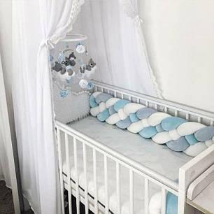 Защитные бортики в детскую кроватку и коконы