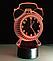 Настольный светильник с 3D эффектом 1104 (Часы) | 3D ночник, фото 2