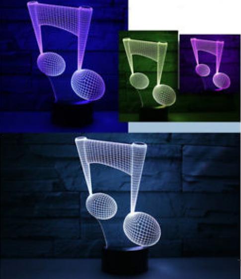 Настольный светильник с 3D эффектом 1116 (Нота) | 3D ночник