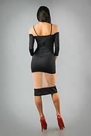 Оригинальное платье с вставками из сетки и кружева, фото 1
