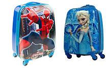 Детские чемоданы на колёсах пластиковые.