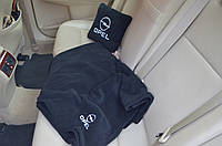 Автомобильный плед Opel в чехле с вышивкой логотипа, фото 1
