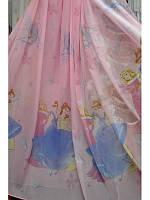Тюль детская Принцессы 3 розовая