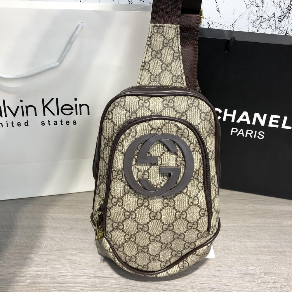 Cумка на пояс Gucci Avenue Sling Bag GG Supreme Biege (реплика): продажа,  цена в Киевской области  поясные сумки от