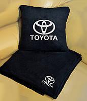 Автомобильный плед Toyota в чехле с вышивкой логотипа, фото 1