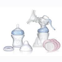 Молокоотсос SoftFlex Premium Comfort™ (полипропил.бутылочка, накладки для грудей, крышка) Nuby (67638)