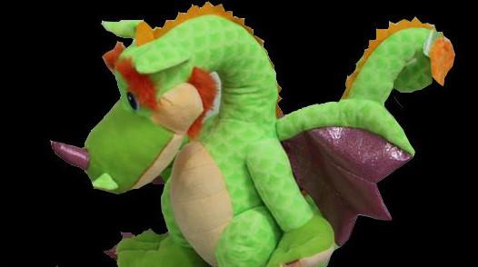 Дракон 90 см плюшева іграшка для дітей м'яка музична іграшка