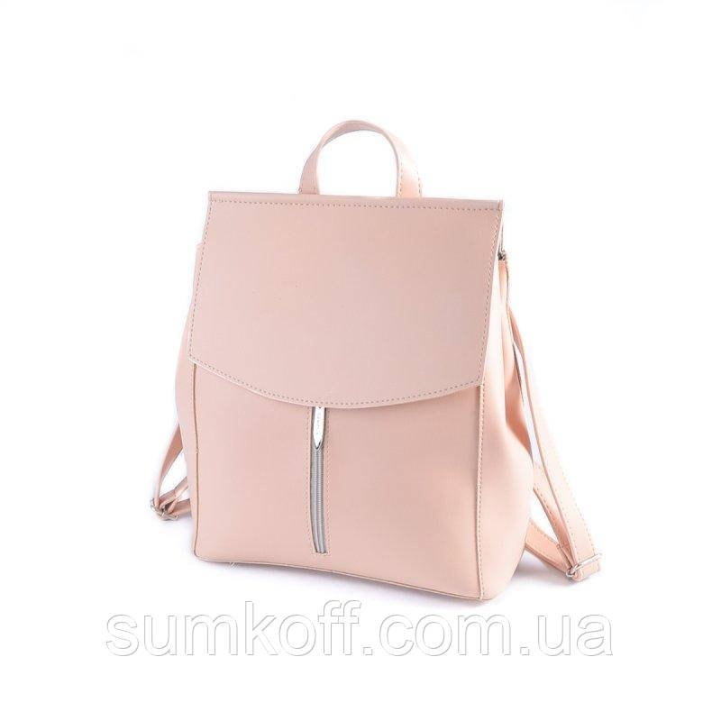 fb42a8724ee4 Сумка-рюкзак М194-88 через плечо трансформер розовая пудра - Интернет  магазин сумок SUMKOFF