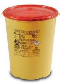 Одноразовий цілий контейнер жовто/червоний DISPO об'ємом 3,0 л