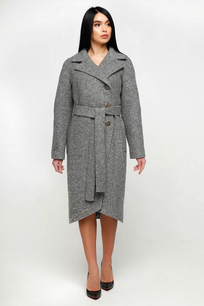 Демисезонное женское пальто из шерсти 1179 (44–54р) в расцветках