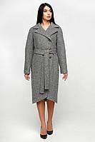 Демисезонное женское пальто из шерсти 1179 (44–54р) в расцветках, фото 1