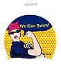 Силиконовая шапочка для плавания Sporti We Can Swim (Yellow)