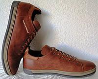 Guess! Мужские туфли кеды из натуральной кожи сезон осень реплика Гесс коричневые