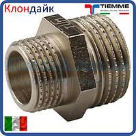 Нипель латунный TIEMME 11/4Н*1Н никелированный