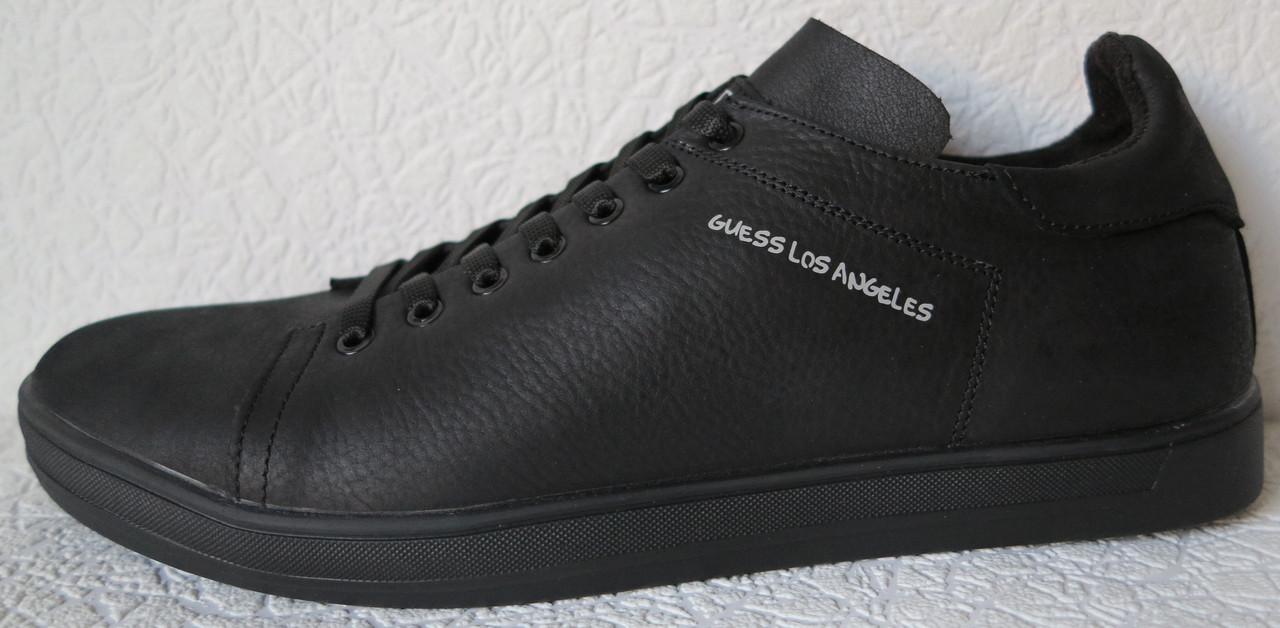 b3a5cf9d Мужские туфли кеды из натуральной кожи сезон осень 2019 реплика Гесс  коричневые - LIMODA