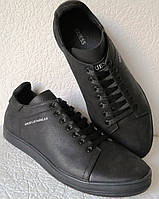 Guess! Мужские туфли кеды из натуральной кожи сезон осень Гесс коричневые