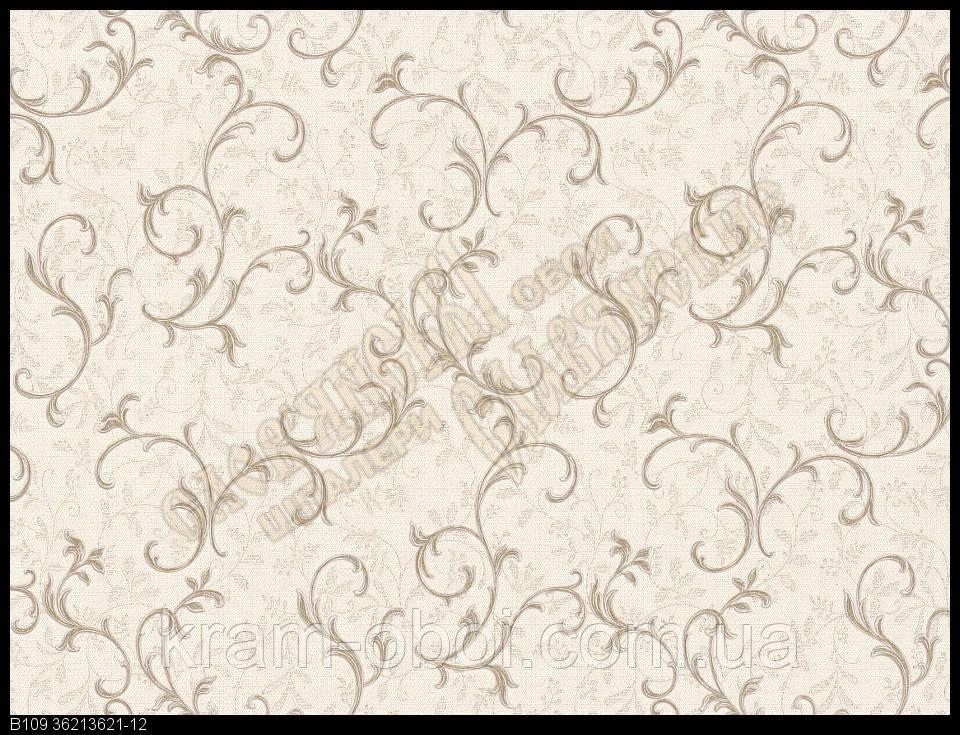 Шпалери Слов'янські Шпалери КФТБ вінілові на флізеліновій основі 10м*1,06 9В109 Графиня 3621-12