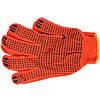 Перчатки рабочие (оранжевые с точкой) 58403