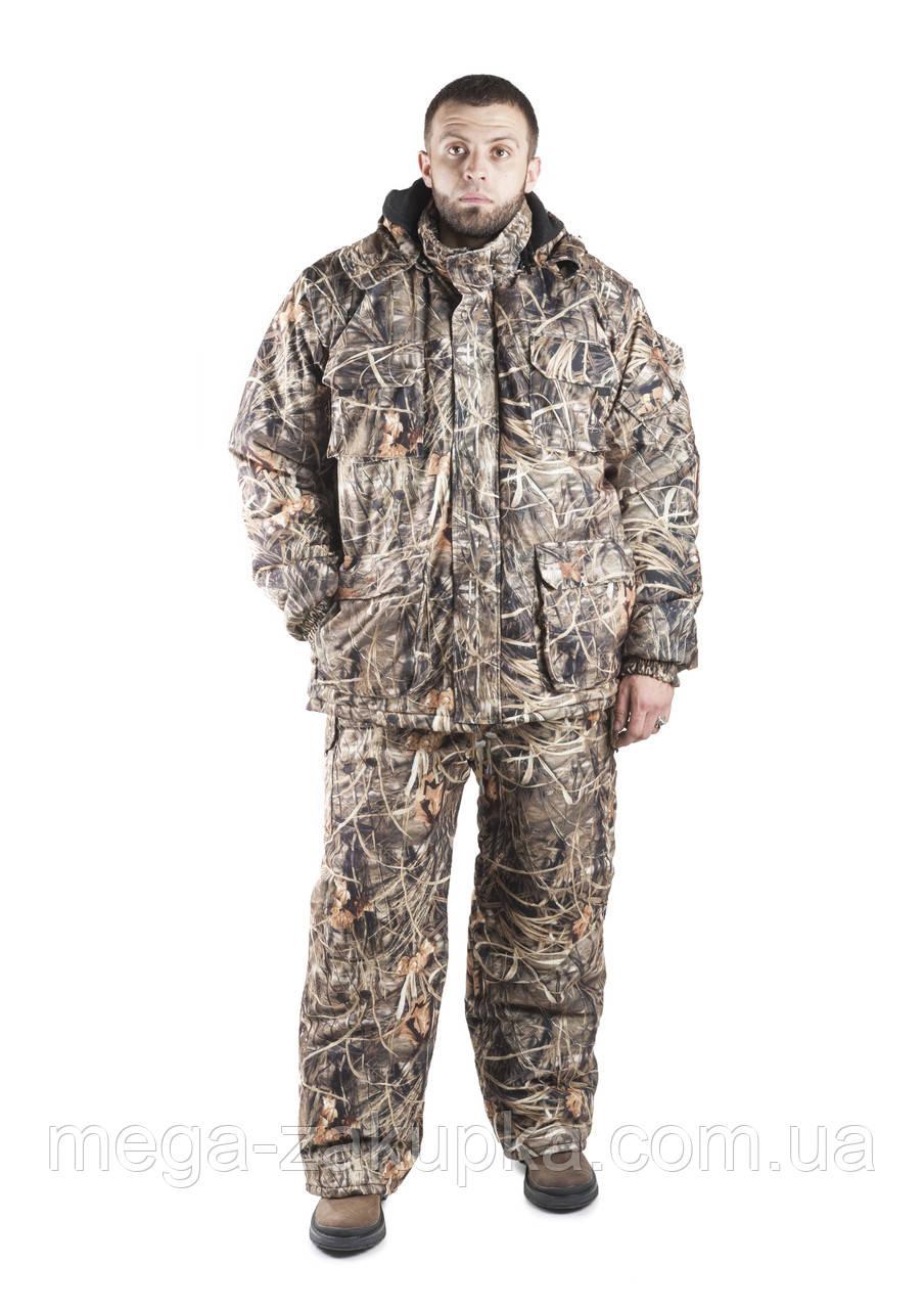 Зимовий костюм для полювання та риболовлі Очерет, непродуваємий, теплий і надійний, всі розміри 52-54