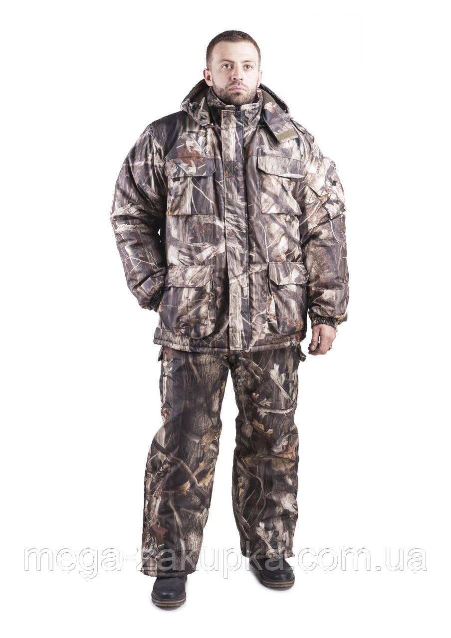 Зимовий костюм для полювання та риболовлі Ліс, непродуваємий, теплий і надійний, всі розміри 56-58