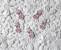 Деревянный кабошон детский Погремушка для девочки розовая, розовая коляска, baby girl