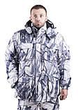 Зимний костюм для охоты и рыбалки Белый камуфляж, непродуваемый, тёплый и надежный, все размеры 52-54, фото 2