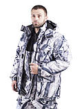 Зимний костюм для охоты и рыбалки Белый камуфляж, непродуваемый, тёплый и надежный, все размеры 52-54, фото 4