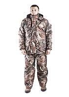 Зимний костюм для охоты и рыбалки Бурый лес, непродуваемый, тёплый и надежный, все размеры 52-54