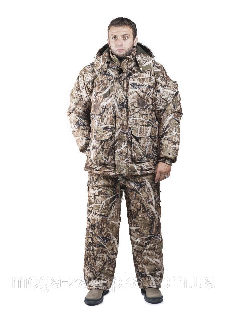 Зимовий костюм для полювання та риболовлі Світлий Очерет, непродуваємий, теплий і надійний, всі розміри 60-62