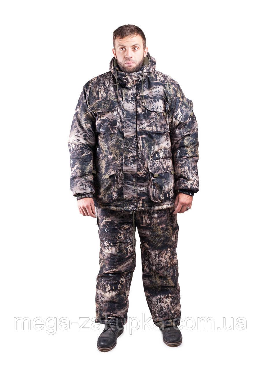 Зимний костюм для охоты и рыбалки Мрамор, непродуваемый, тёплый и надежный, все размеры 48-50