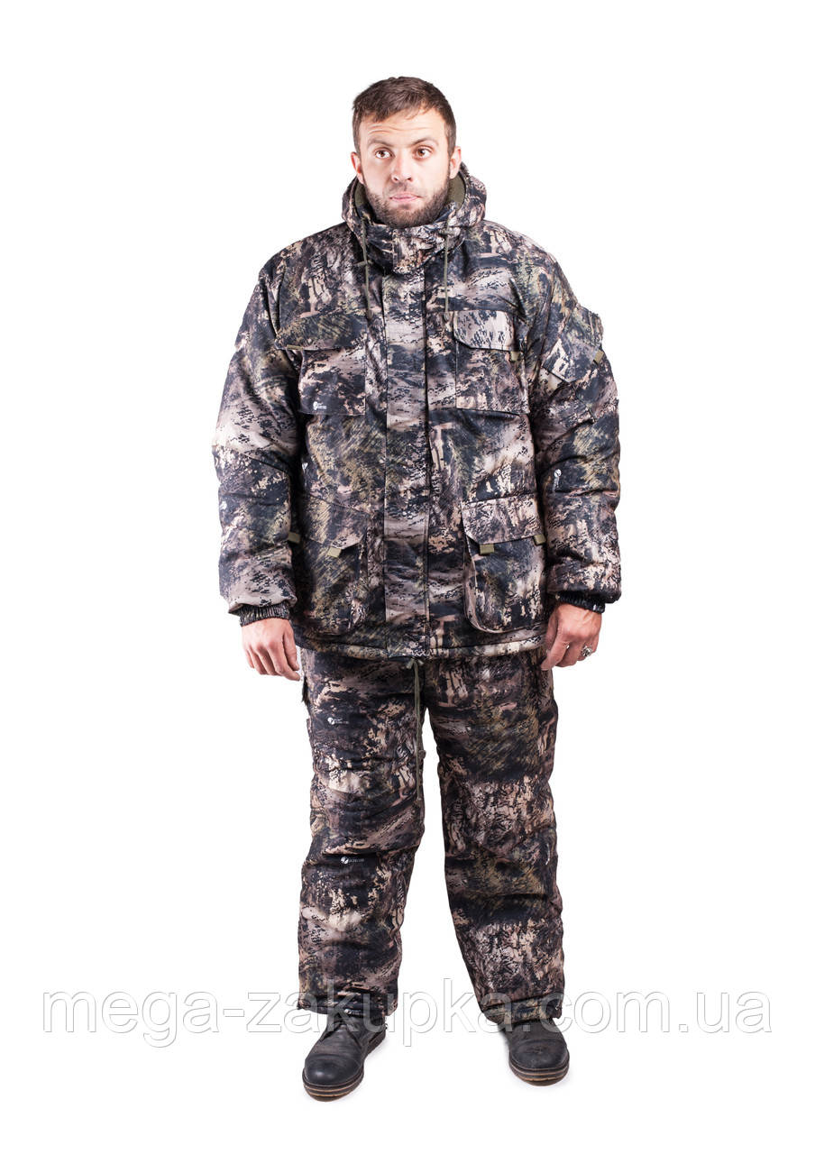 Зимний костюм для охоты и рыбалки Мрамор, непродуваемый, тёплый и надежный, все размеры 56-58