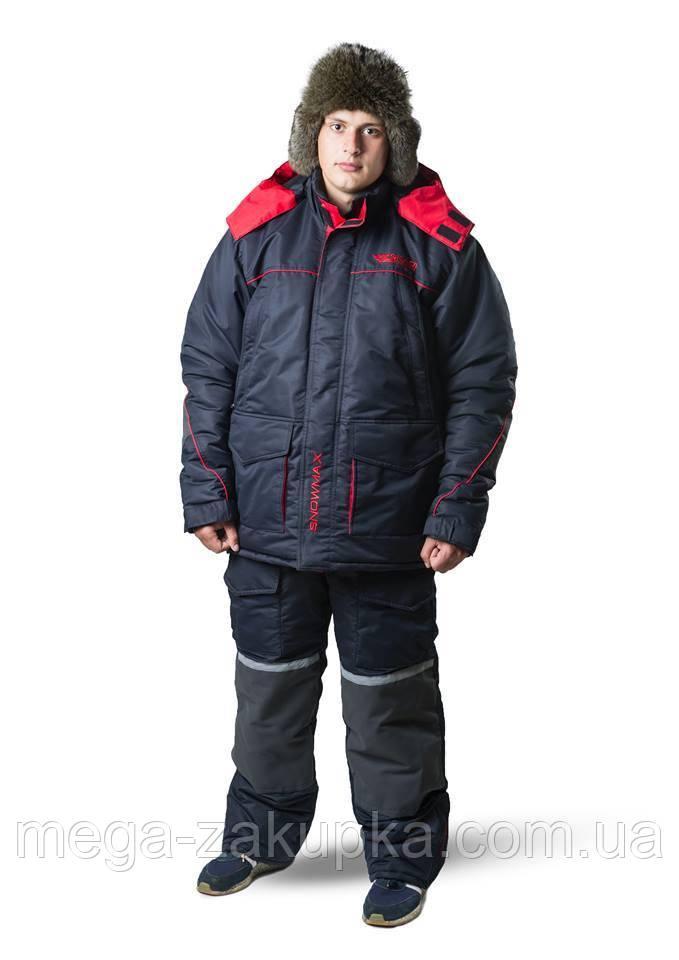 Зимовий костюм для риболовлі та полювання Snowmax Red Новинка сезону! Теплий, непродуваємий, Всі розміри 64-66