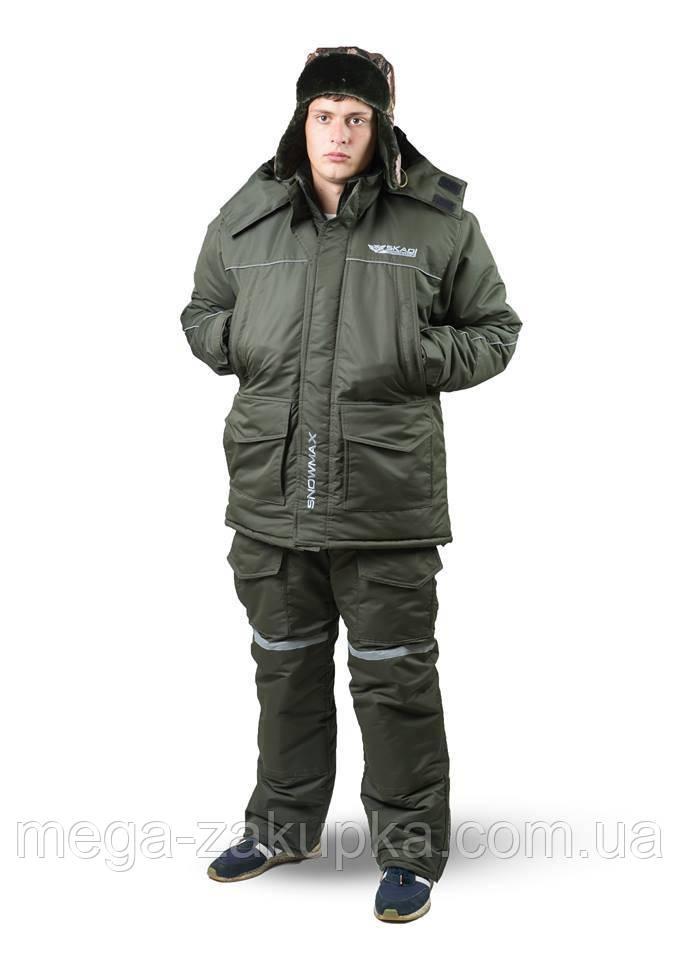 Зимовий костюм для риболовлі та полювання Snowmax Olive Новинка сезону! Теплий, непродуваємий, Всі розміри 52-54