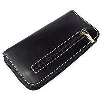 Женский кожаный кошелек на молнии LIKA (черный), фото 1