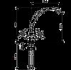 Смеситель для кухни EMMEVI DECO classic CO12717 хром/золото, фото 2