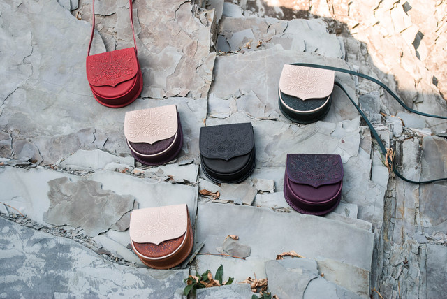 Кожаные мини-сумочки