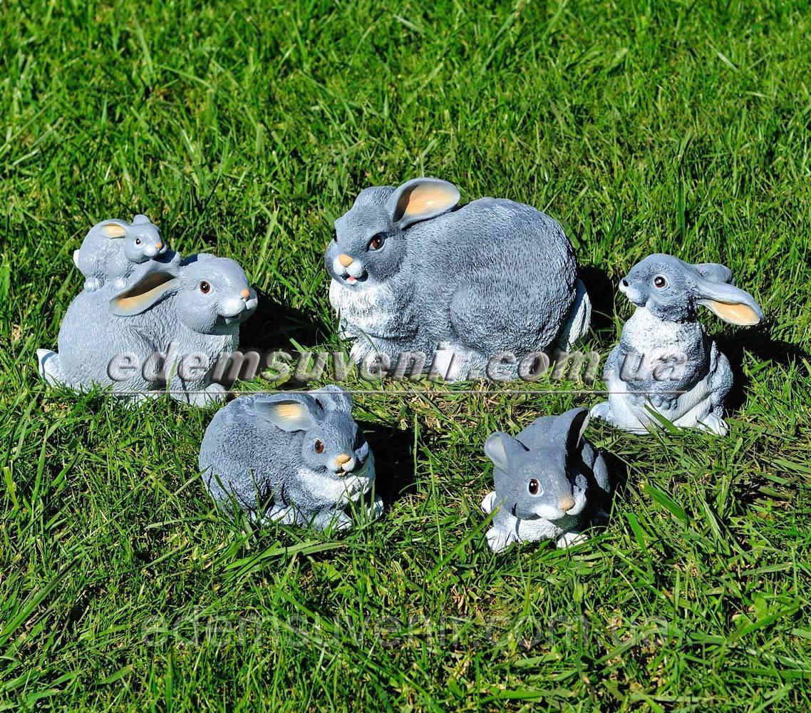 Садовая фигура Зайчиха с зайчонком, Зайчонок, Зайчонок Кузя, Зайчонок Тимоха и Крольчиха